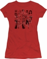 Justice League juniors t-shirt Five Stars red