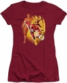 Justice League juniors t-shirt Flash Collage cardinal