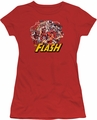 Justice League juniors t-shirt Flash Family red