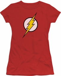 Justice League juniors t-shirt Flash Logo red