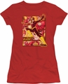 Justice League juniors t-shirt Flash red