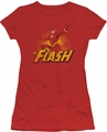 Justice League juniors t-shirt Flash Rough Distress red