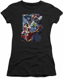 Justice League juniors t-shirt Galactic Attack Color black