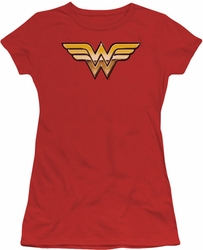 Justice League juniors t-shirt Golden red