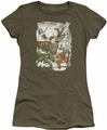 Justice League juniors t-shirt Green And Red military green