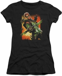 Justice League juniors t-shirt Green Arrow #1 black