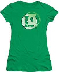 Justice League juniors t-shirt Green Lantern Energy Logo kelly green