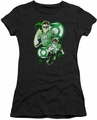 Justice League juniors t-shirt Green Lantern In Action black