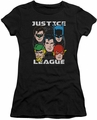 Justice League juniors t-shirt Head Of States black