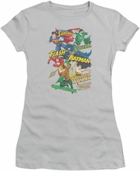 Justice League juniors t-shirt Justice Collage silver