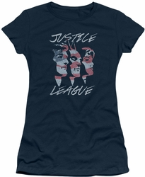 Justice League juniors t-shirt Justice For America navy