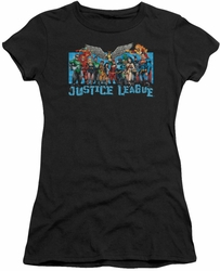 Justice League juniors t-shirt League Lineup black