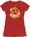 Justice League juniors t-shirt Lightning Fast red