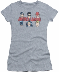 Justice League juniors t-shirt Lineup athletic heather