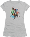 Justice League juniors t-shirt Mashup silver