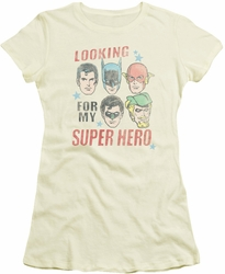 Justice League juniors t-shirt My Super Hero cream
