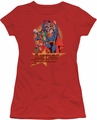 Justice League juniors t-shirt Raise Your Fist red