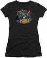 Justice League juniors t-shirt Ready To Fight black