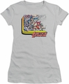 Justice League juniors t-shirt Ready To Fight silver