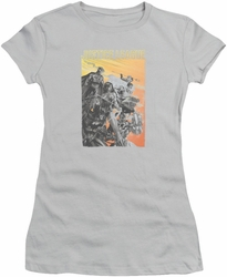 Justice League juniors t-shirt Red Dawn silver