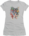 Justice League juniors t-shirt Refuse To Give Up silver