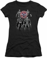 Justice League juniors t-shirt Shades Of Gray black