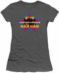 Justice League juniors t-shirt Stand Tall charcoal