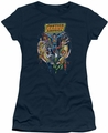 Justice League juniors t-shirt Star Group navy