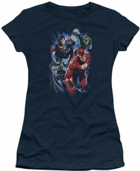 Justice League juniors t-shirt Storm Chasers navy