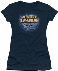 Justice League juniors t-shirt Storm Logo navy