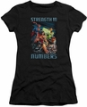 Justice League juniors t-shirt Strength In Number black