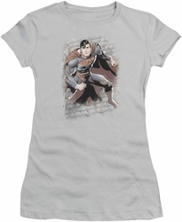 Justice League juniors t-shirt Superman Bricks silver