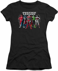Justice League juniors t-shirt The Big Five black