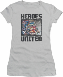 Justice League juniors t-shirt The Charge silver
