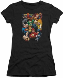 Justice League juniors t-shirt The League's All Here black