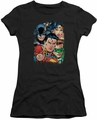 Justice League juniors t-shirt Up Close And Personal black