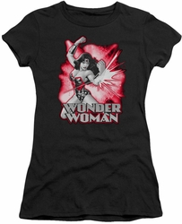 Justice League juniors t-shirt Wonder Woman Red & Gray black