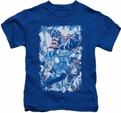 Justice League kids t-shirt American Justice royal