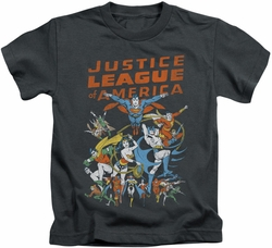 Justice League kids t-shirt Big Group charcoal