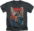 Justice League kids t-shirt Crime Syndicate charcoal