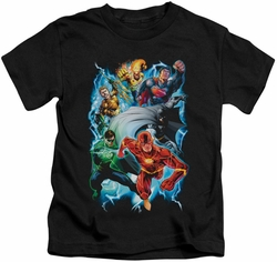 Justice League kids t-shirt Electric Team black
