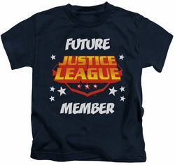 Justice League kids t-shirt Future Member navy