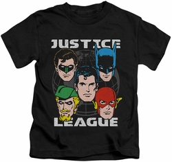 Justice League kids t-shirt Head Of States black
