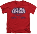 Justice League kids t-shirt Here I Come red
