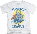 Justice League kids t-shirt Let's Do This white