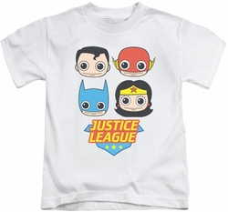 Justice League kids t-shirt Lil League white