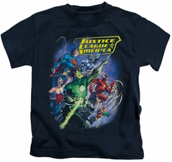Justice League kids t-shirt Onward navy