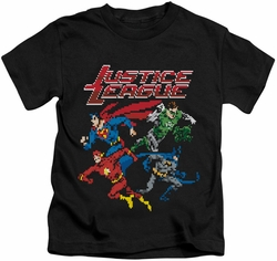 Justice League kids t-shirt Pixel League black