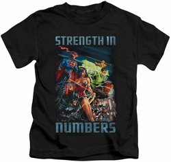Justice League kids t-shirt Strength In Number black
