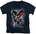 Justice League kids t-shirt The Coming Storm navy